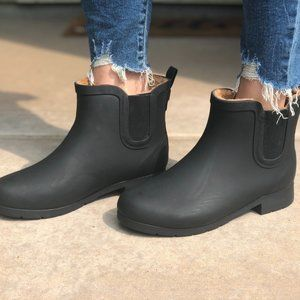New🔥 Chooka Black Rain Boots Booties Fur